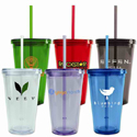 tumblers with lid and straw