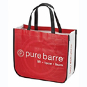curved laminated tote